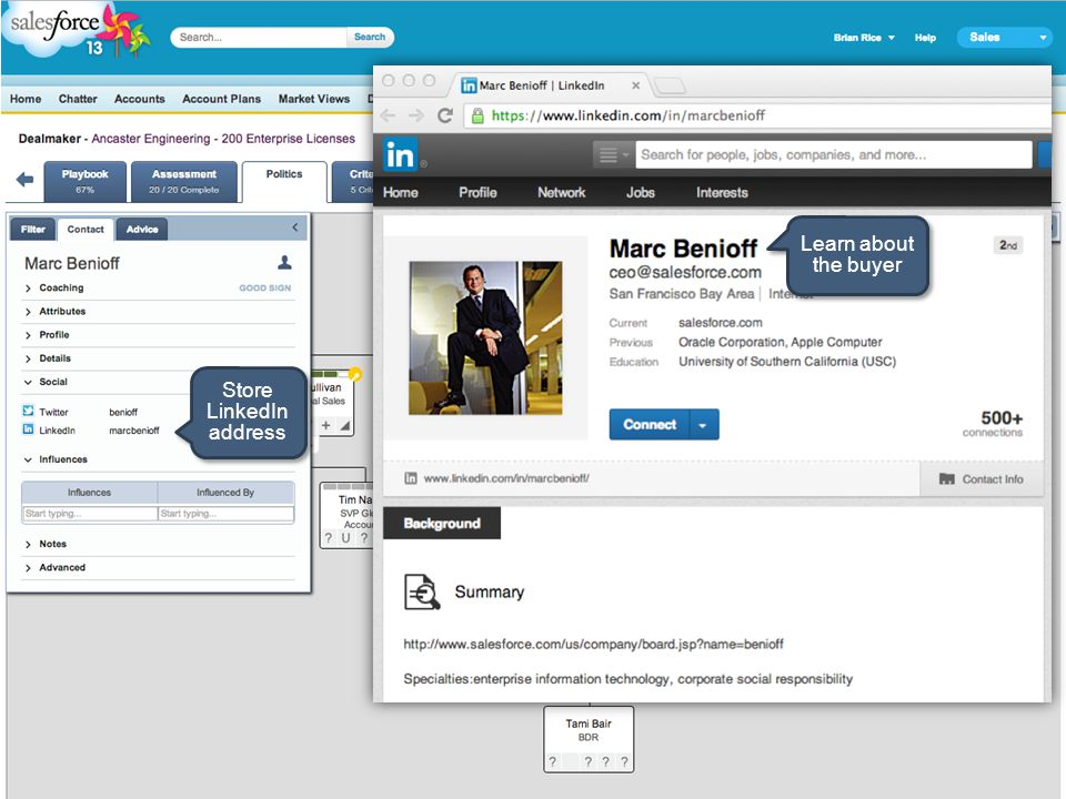 Store LinkedIn address Learn about the buyer