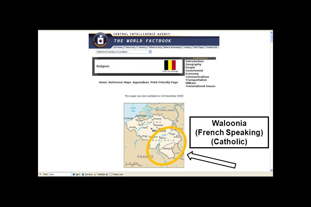 Waloonia (French Speaking) (Catholic)