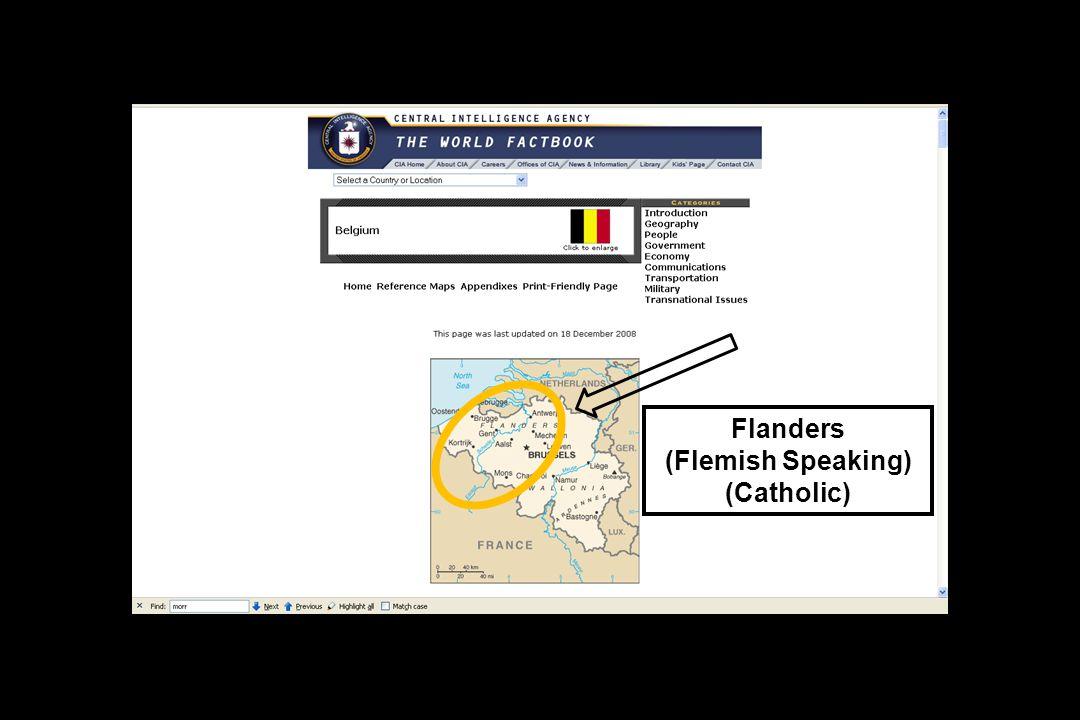 Flanders (Flemish Speaking) (Catholic)