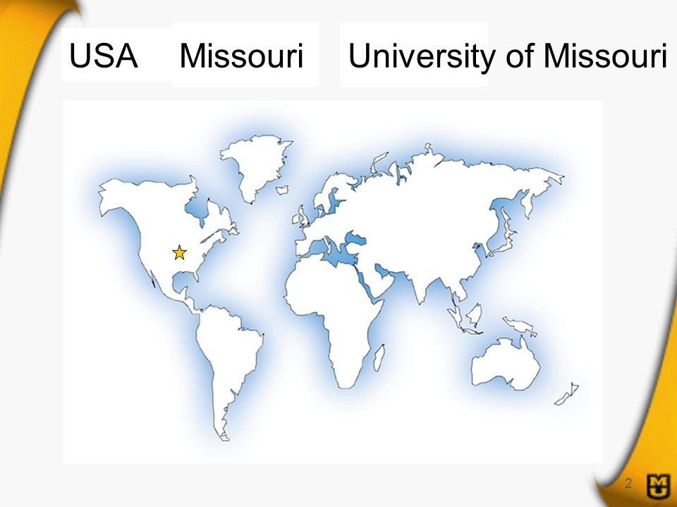 2 USA MissouriUniversity of Missouri