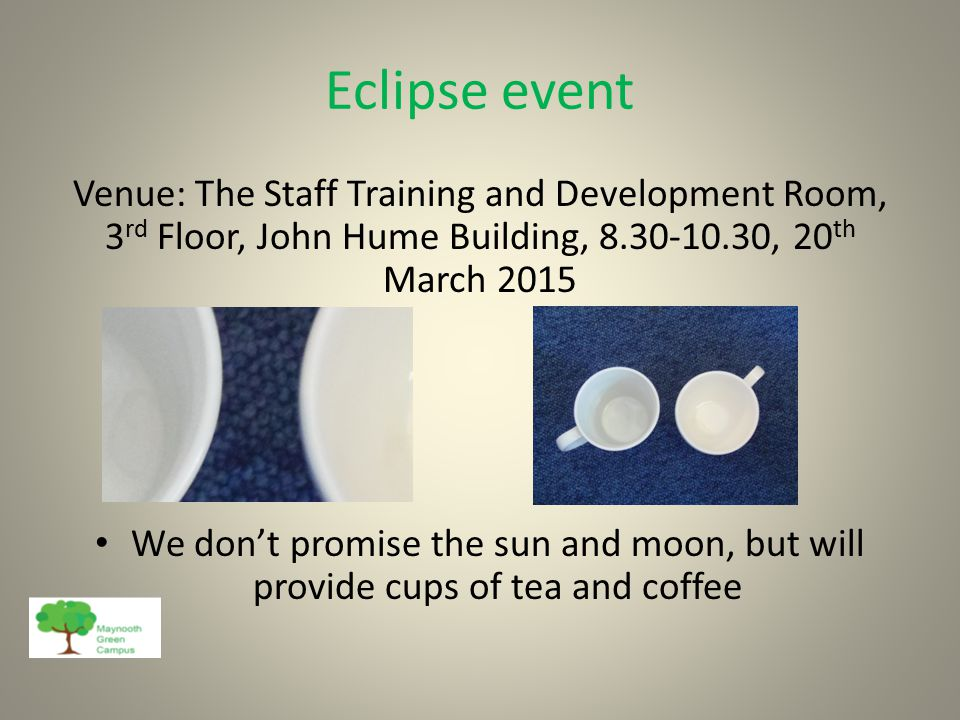Eclipse event Wouldn't it be nice to think that future generations will continue to enjoy events like this too.