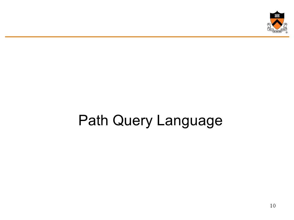 Path Query Language 10