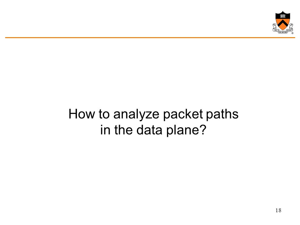 How to analyze packet paths in the data plane? 18