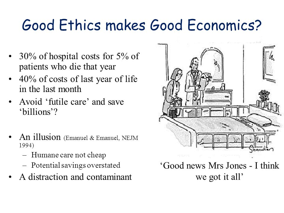 Good Ethics makes Good Economics.