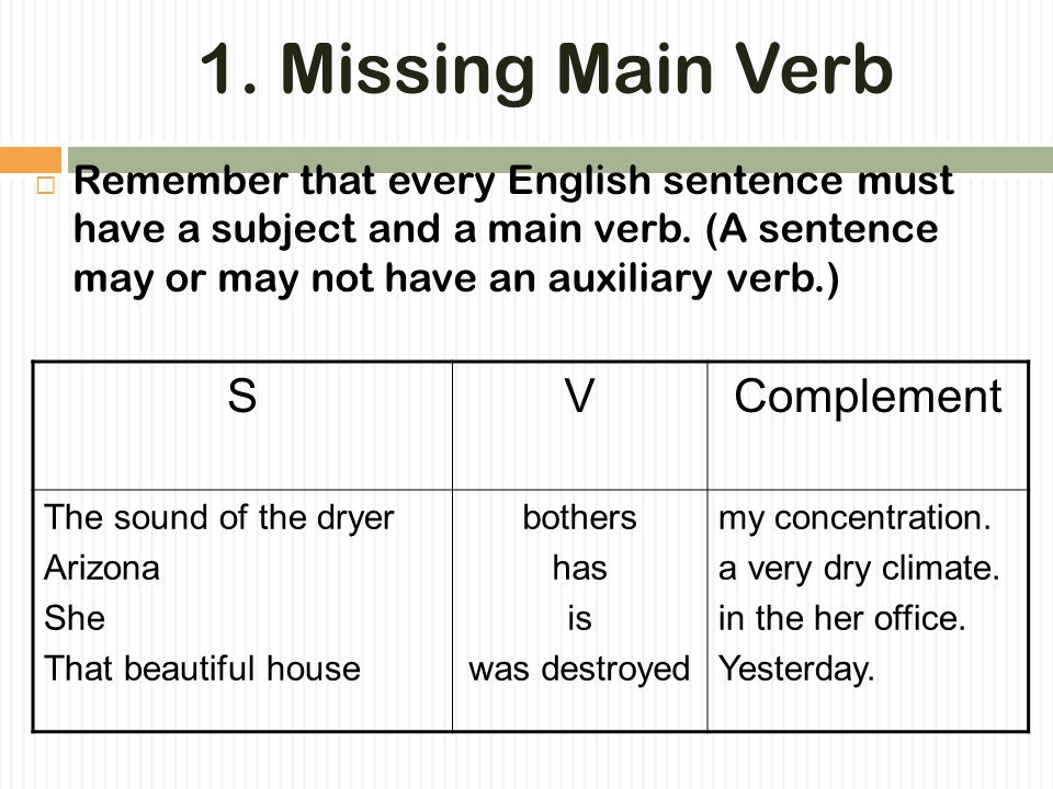 Some Common English Patterns