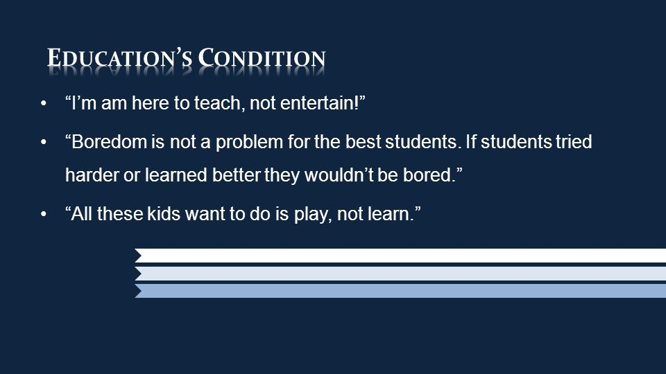 Since when did we decide that institutions of Learning were allergic to Fun?