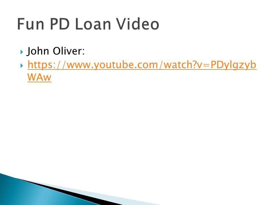  John Oliver:  https://www.youtube.com/watch?v=PDylgzyb WAw https://www.youtube.com/watch?v=PDylgzyb WAw