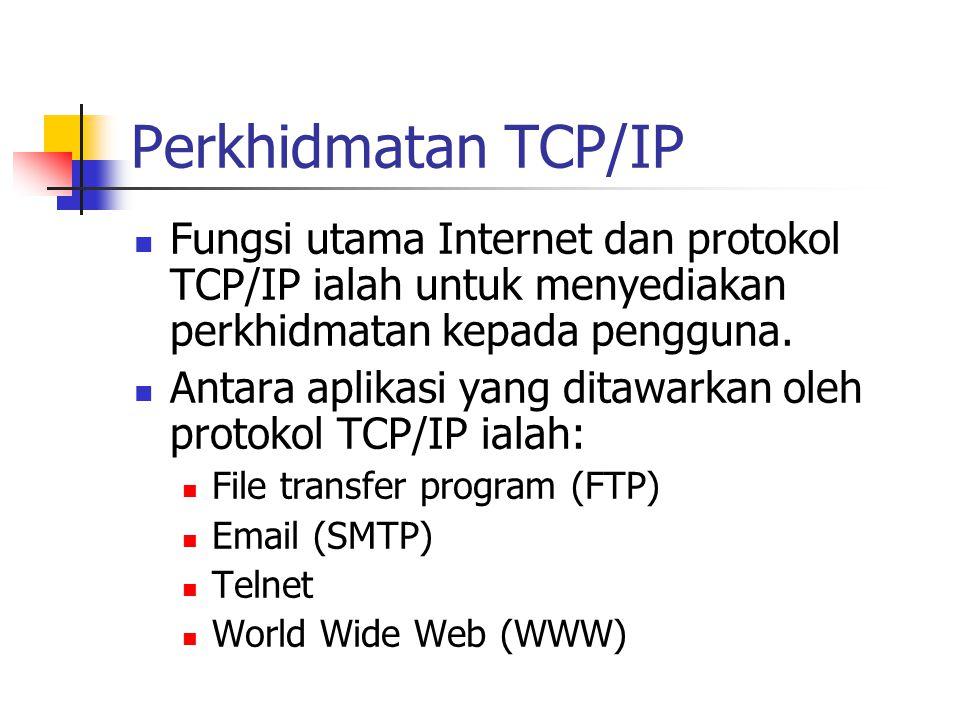 Perkhidmatan TCP/IP Fungsi utama Internet dan protokol TCP/IP ialah untuk menyediakan perkhidmatan kepada pengguna.