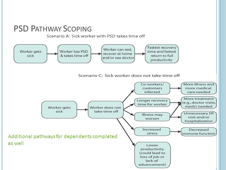 PSD P ATHWAY S COPING Additional pathways for dependents completed as well 20