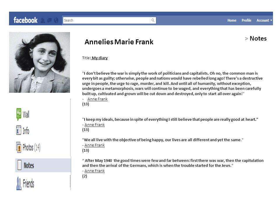 Bibliography 1.http://en.wikipedia.org/wiki/Anne_Frank, 4/ 25/11.