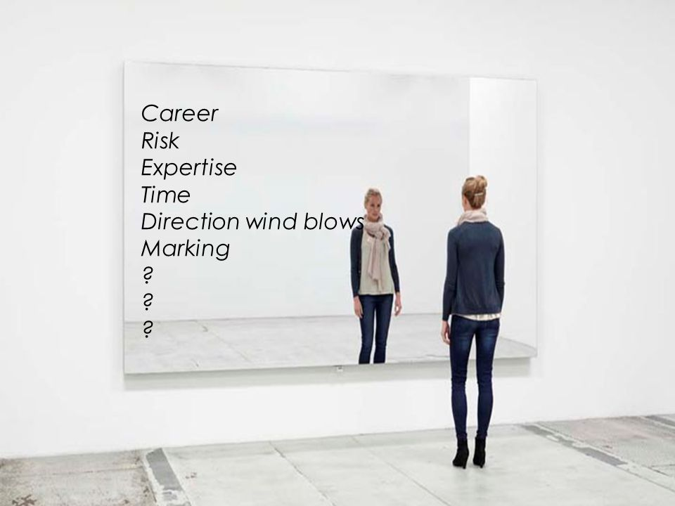 Career Risk Expertise Time Direction wind blows Marking ?