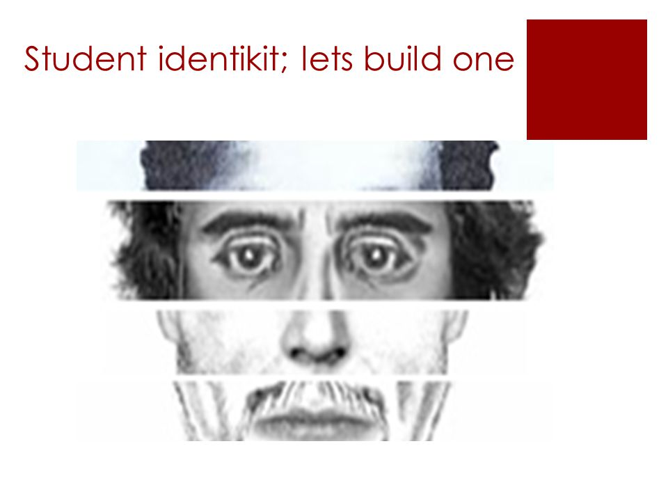 Student identikit; lets build one