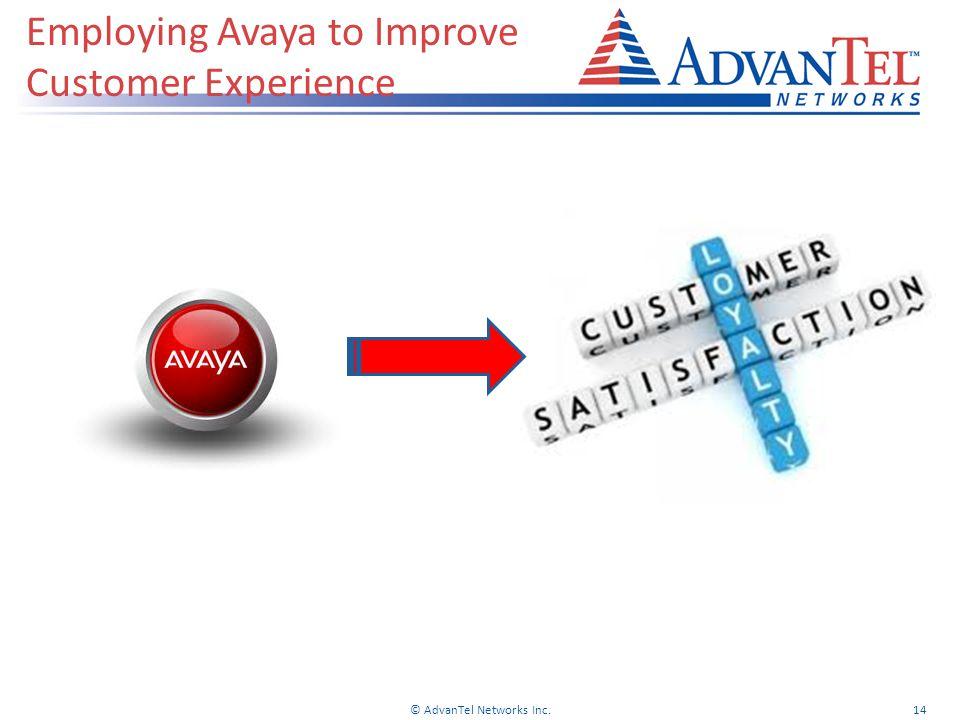Employing Avaya to Improve Customer Experience © AdvanTel Networks Inc.14
