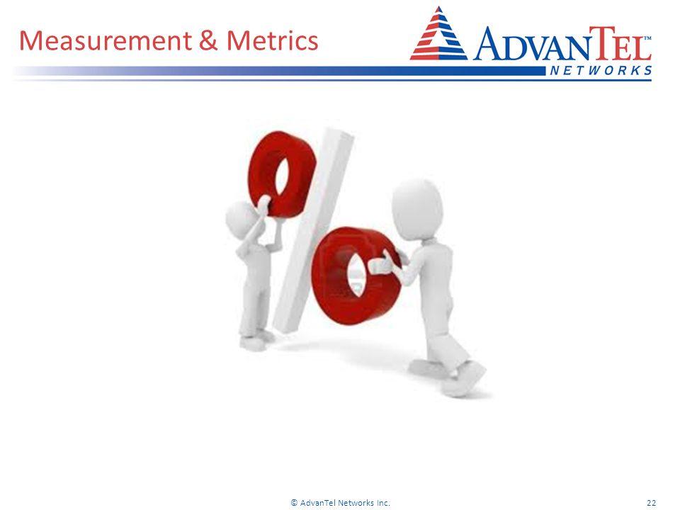Measurement & Metrics © AdvanTel Networks Inc.22