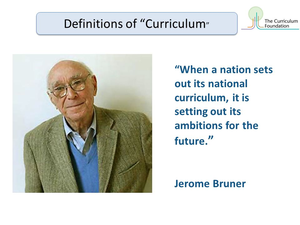 When a nation sets out its national curriculum, it is setting out its ambitions for the future.