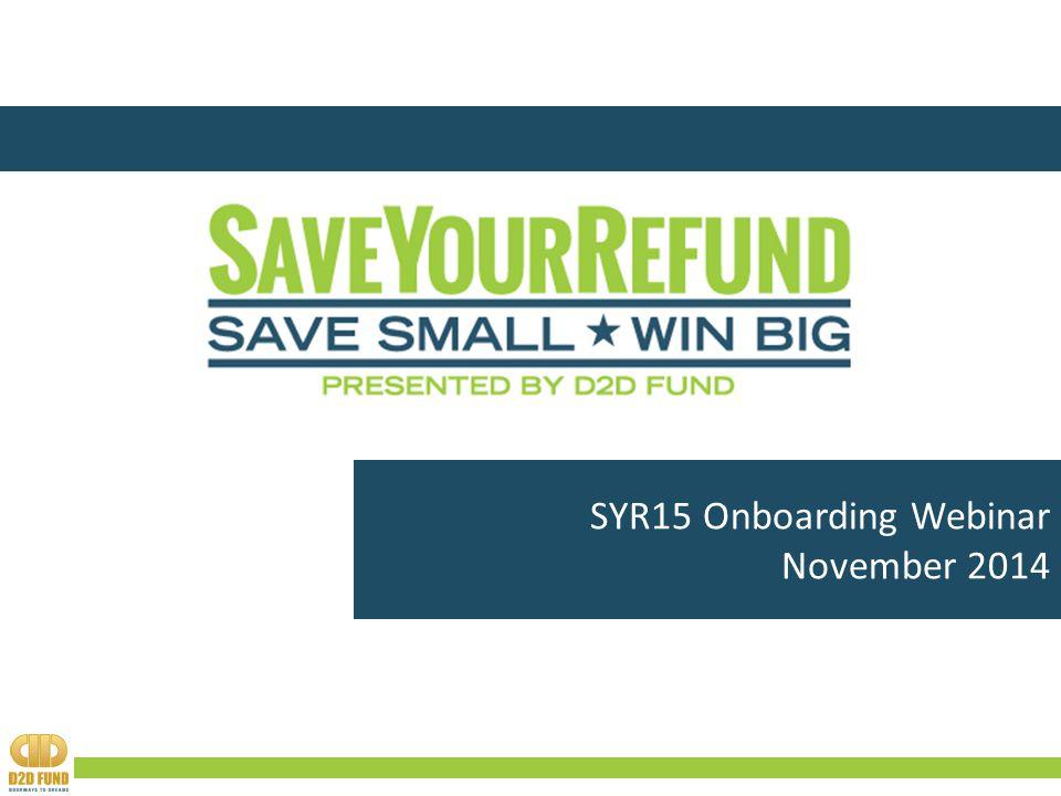 SYR15 Onboarding Webinar November 2014