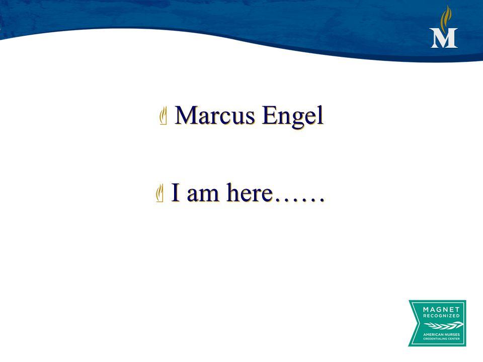 Marcus Engel I am here…… Marcus Engel I am here……