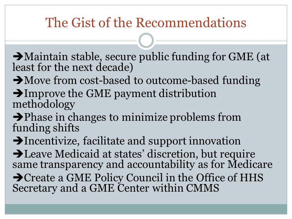 Create one Medicare GME fund (i.e.