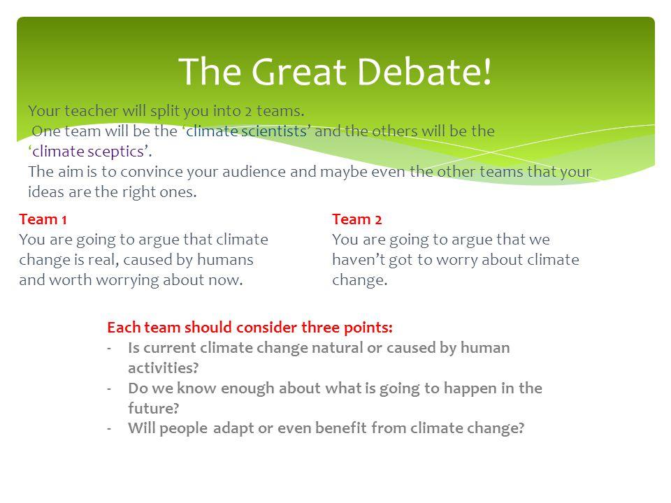 The Great Debate.
