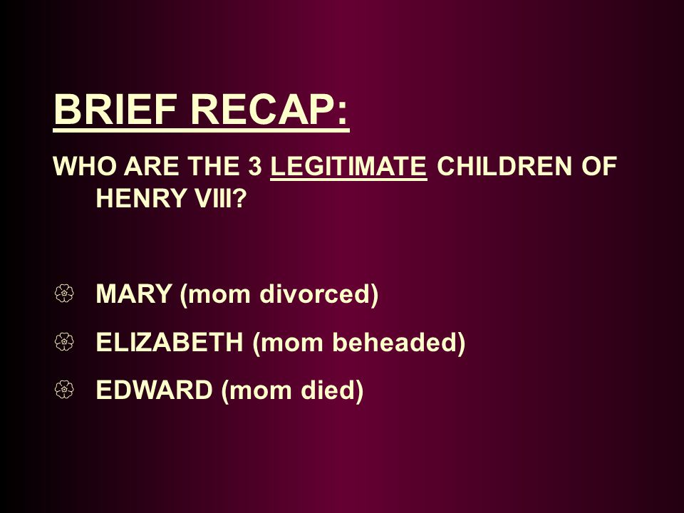 TThe Result: DIED SShe died 2 weeks after giving birth to Henry's only legitimate son – Edward SShe is the only one of the 6 wives buried with him.