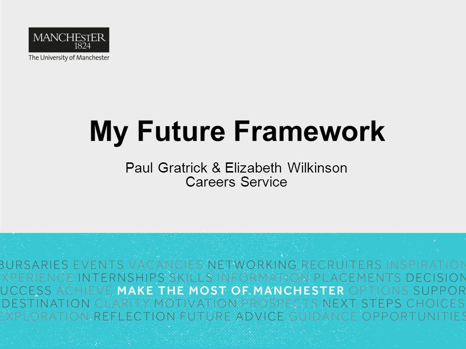 My Future Framework Paul Gratrick & Elizabeth Wilkinson Careers Service
