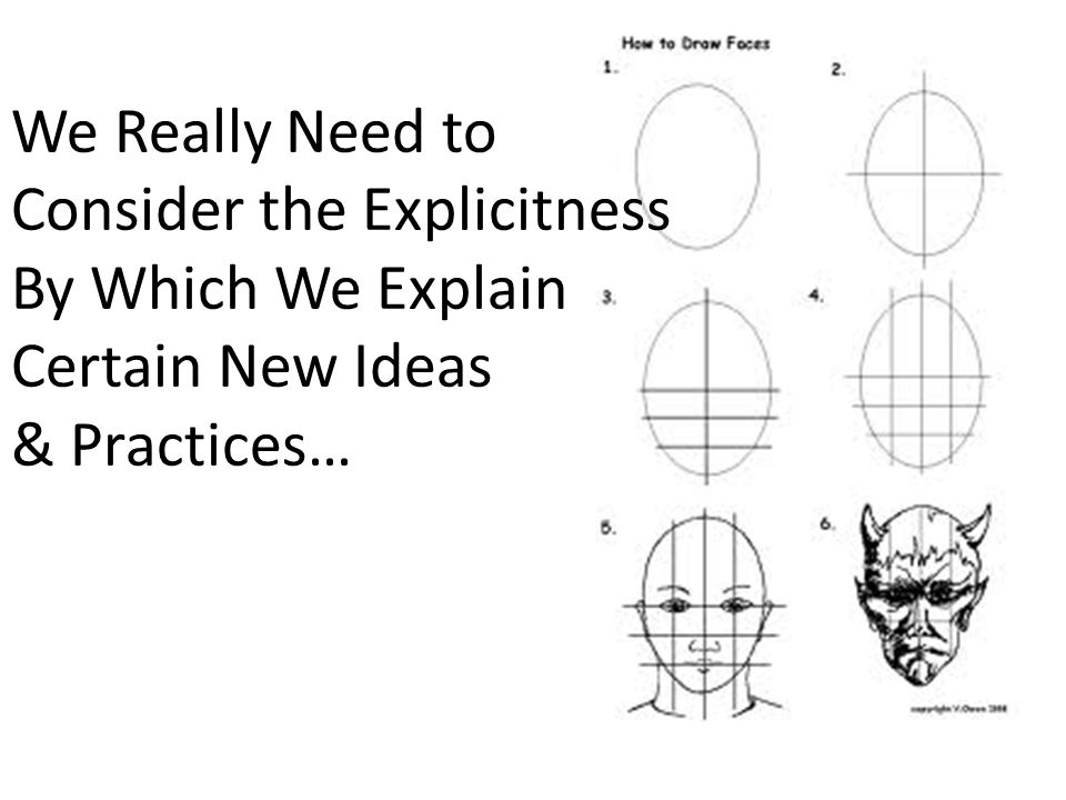 We Really Need to Consider the Explicitness By Which We Explain Certain New Ideas & Practices…