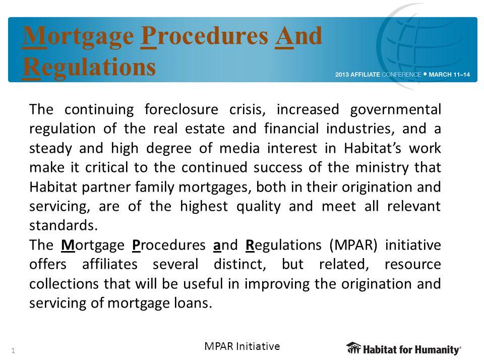 2 2 MPAR Mortgage Mavens Affiliate Financial Services Affiliate Financial Services Government Relations & Advocacy Government Relations & Advocacy Legal HFHI MPAR – who makes this possible