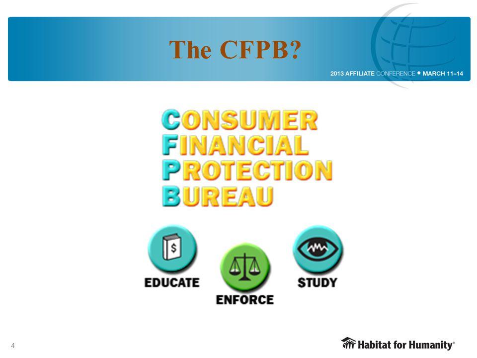 4 The CFPB