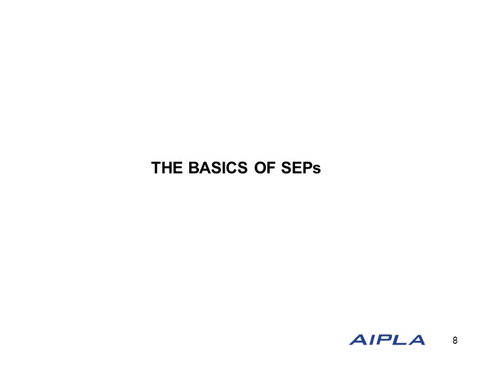 THE BASICS OF SEPs 8