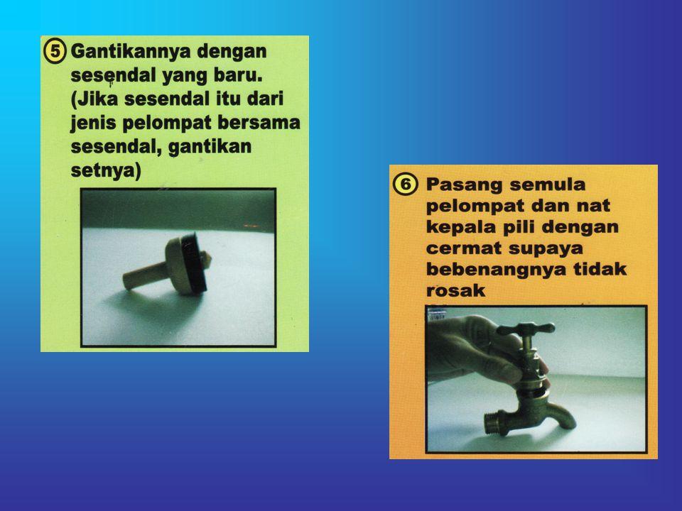 Kebocoran pada pili berlaku mungkin disebabkan oleh kehausan sesendal pada pelompat.