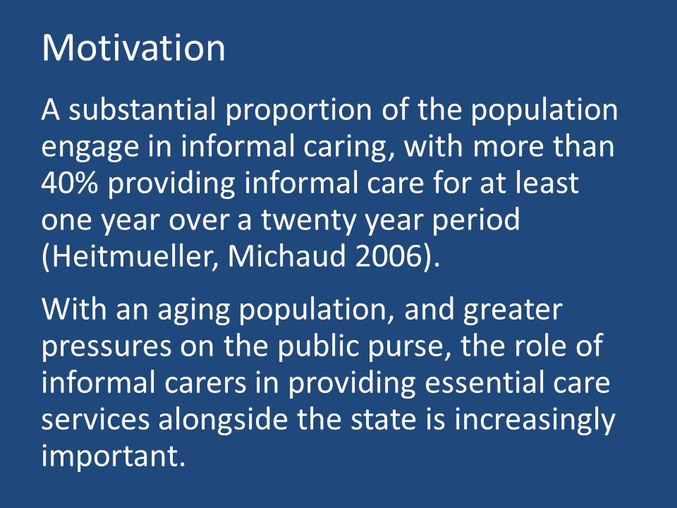 Building care networks Matching informal caring relationships within the household allows us to build a dataset based on observations of relationships rather than individuals.