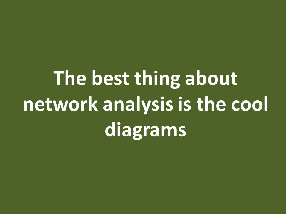 The best thing about network analysis is the cool diagrams