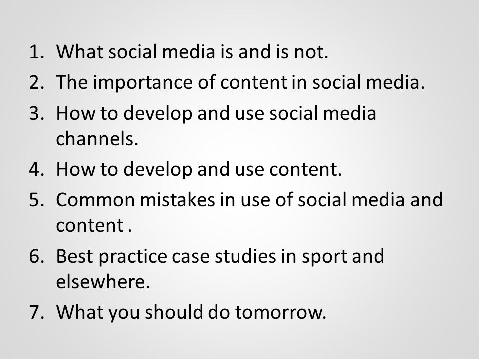 On social media Social media is not going away and is not a fad.