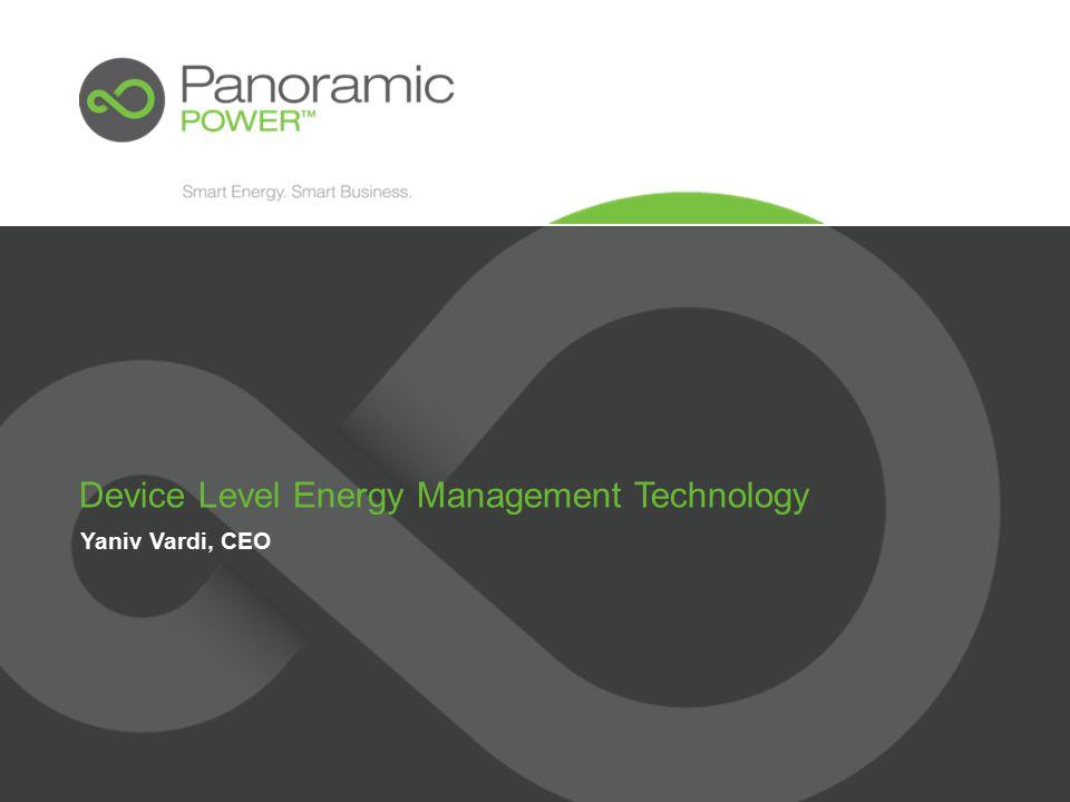 Yaniv Vardi, CEO Device Level Energy Management Technology
