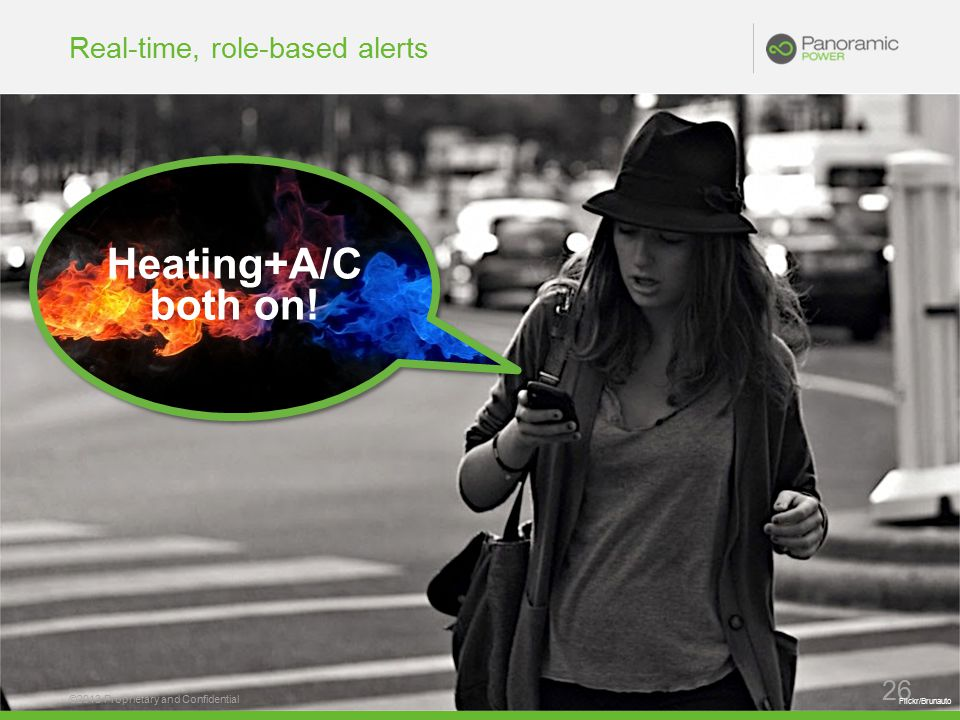 Real-time, role-based alerts ©2013 Proprietary and Confidential 26 Heating+A/C both on.