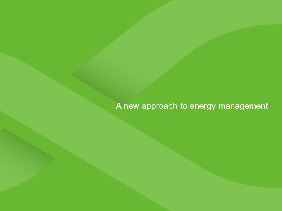 A new approach to energy management