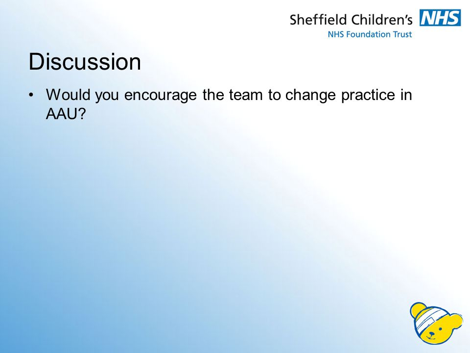 Discussion Would you encourage the team to change practice in AAU?