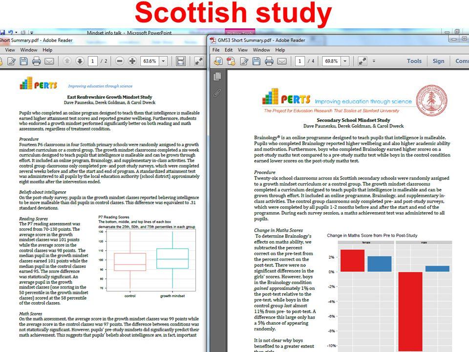 Scottish study