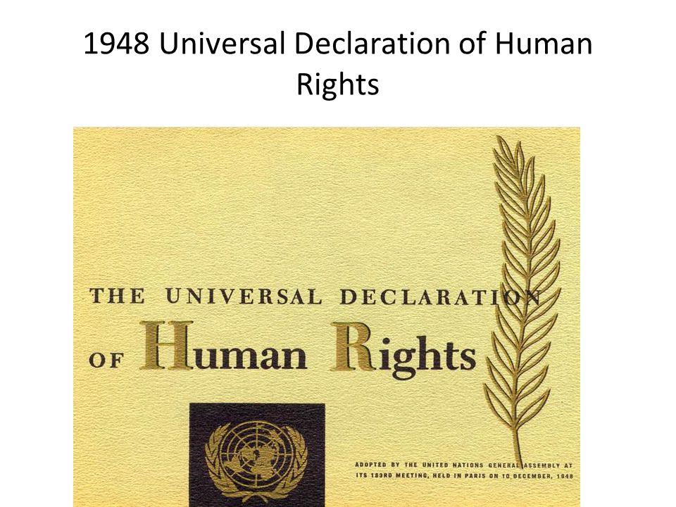 1948 Universal Declaration of Human Rights