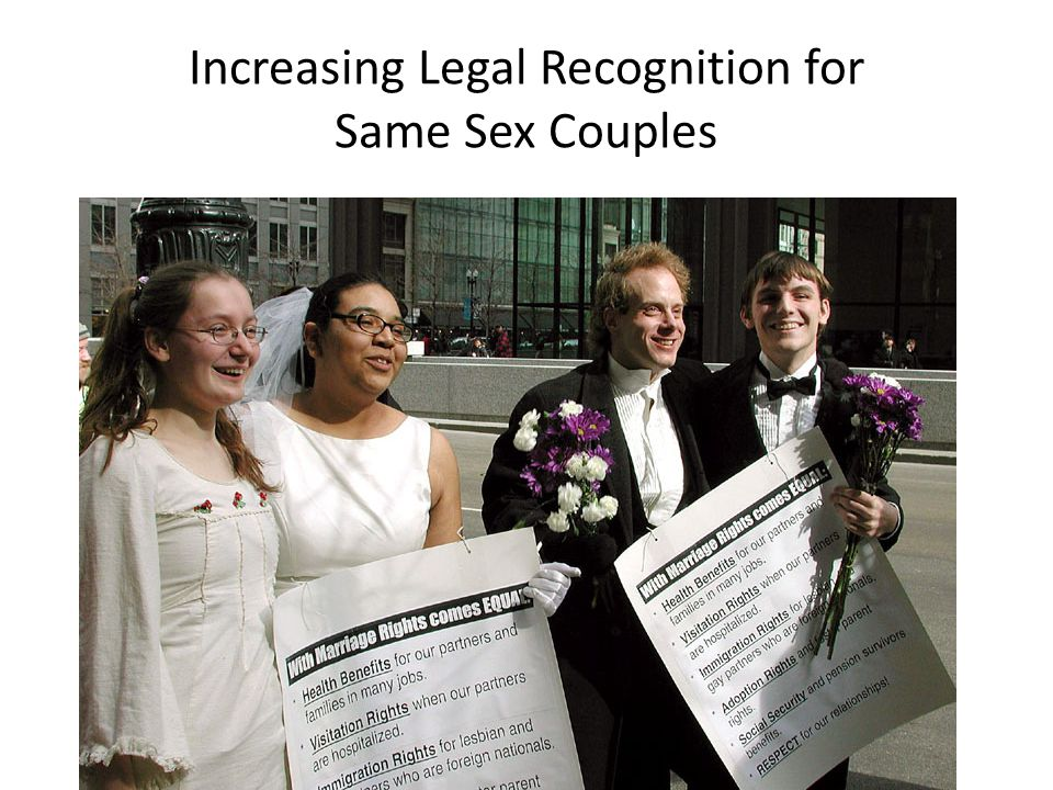 Increasing Legal Recognition for Same Sex Couples
