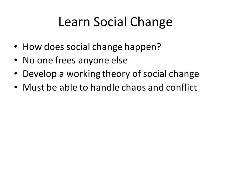Learn Social Change How does social change happen.