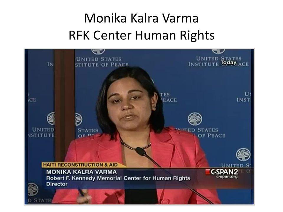 Monika Kalra Varma RFK Center Human Rights