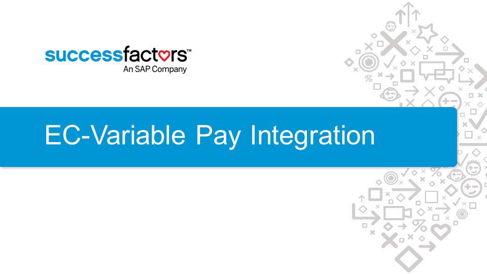 EC-Variable Pay Integration
