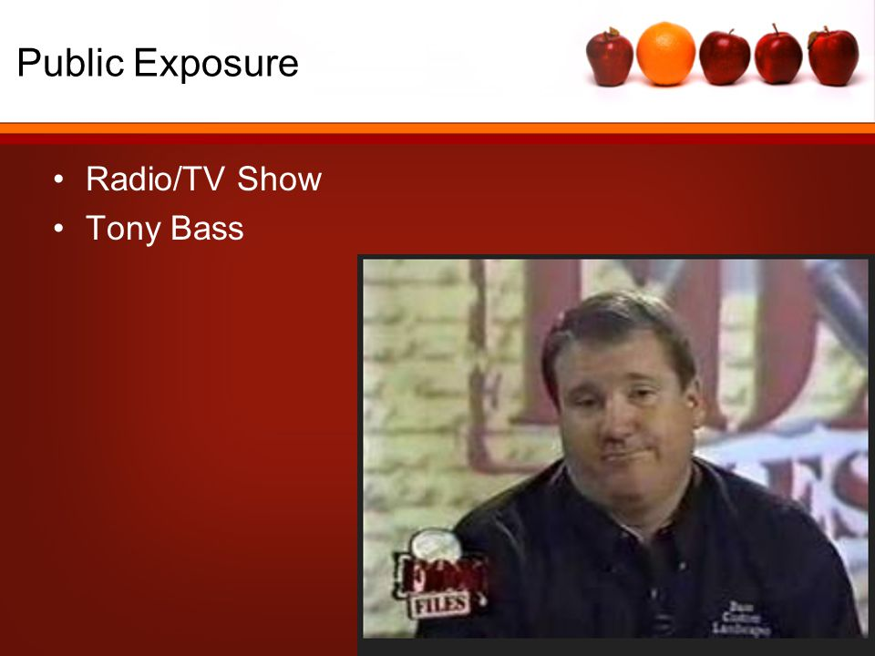 Public Exposure Radio/TV Show Tony Bass