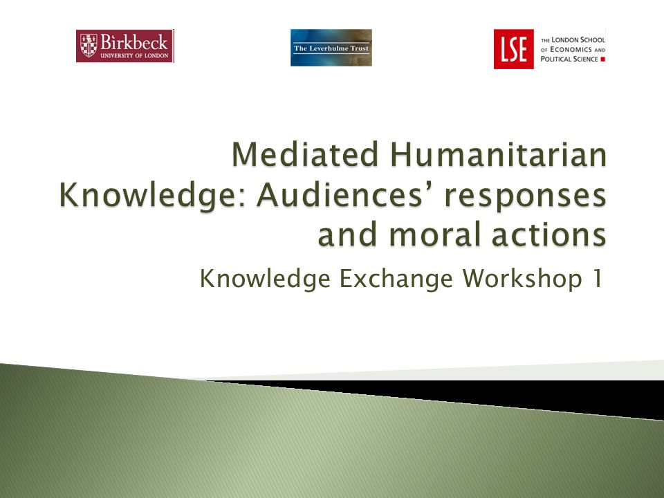 Knowledge Exchange Workshop 1