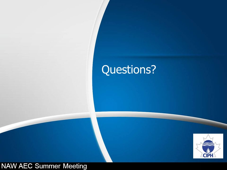 Questions? NAW AEC Summer Meeting