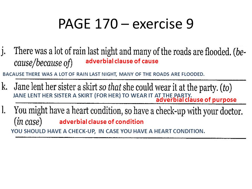PAGE 176 – exercise 19 SHOULD ANYTHING STRANGE HAPPEN, LET ME KNOW.