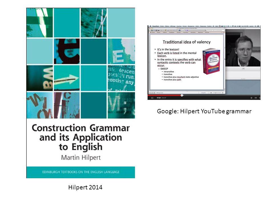 Hilpert 2014 Google: Hilpert YouTube grammar