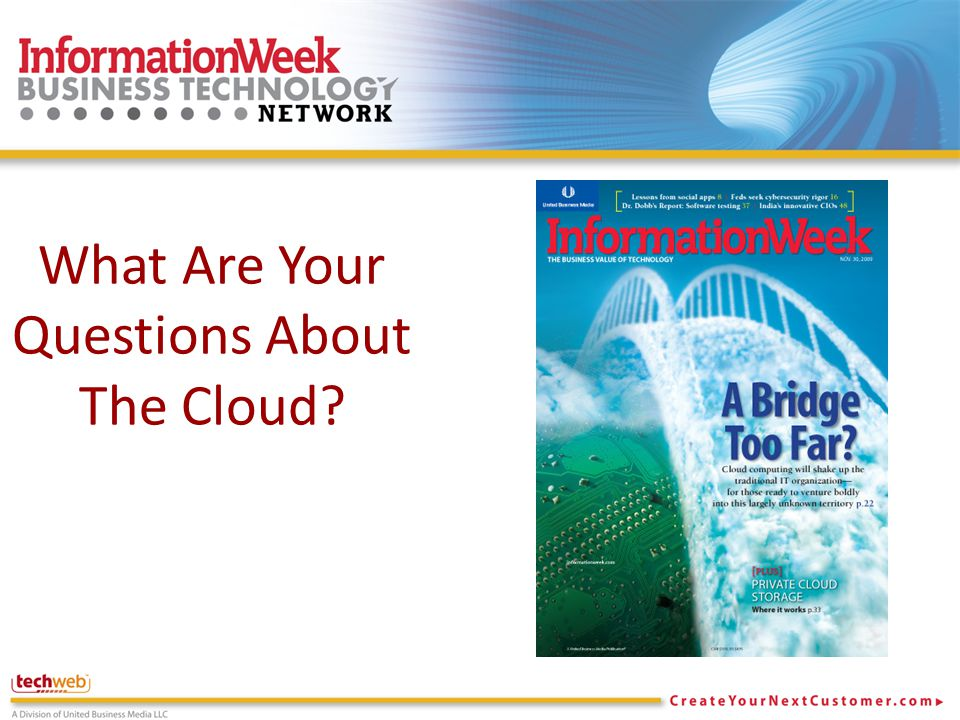 What Are Your Questions About The Cloud