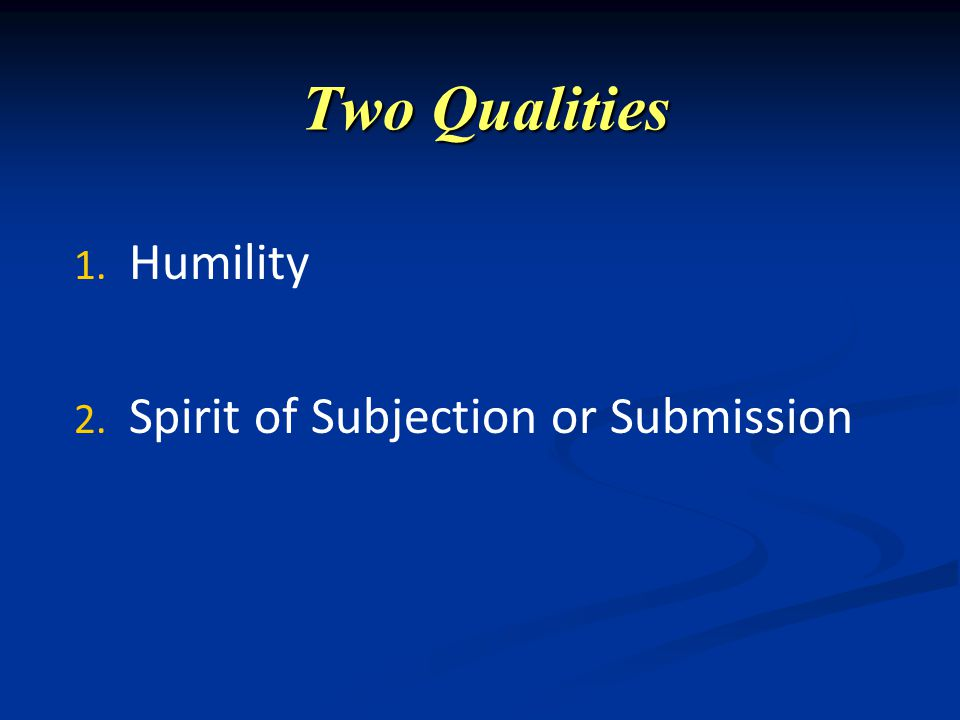 Two Qualities 1.1.